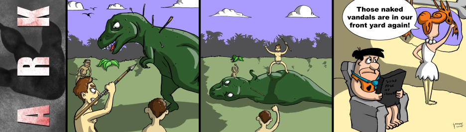 "When I heard the first time of ""Ark Survival Evolved"", this comic popped into my head."